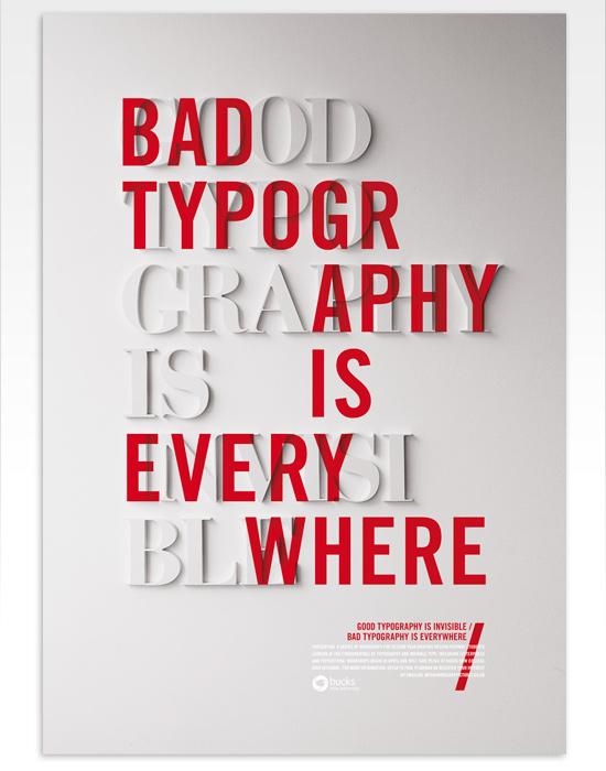 Buena y mala tipografía, póster