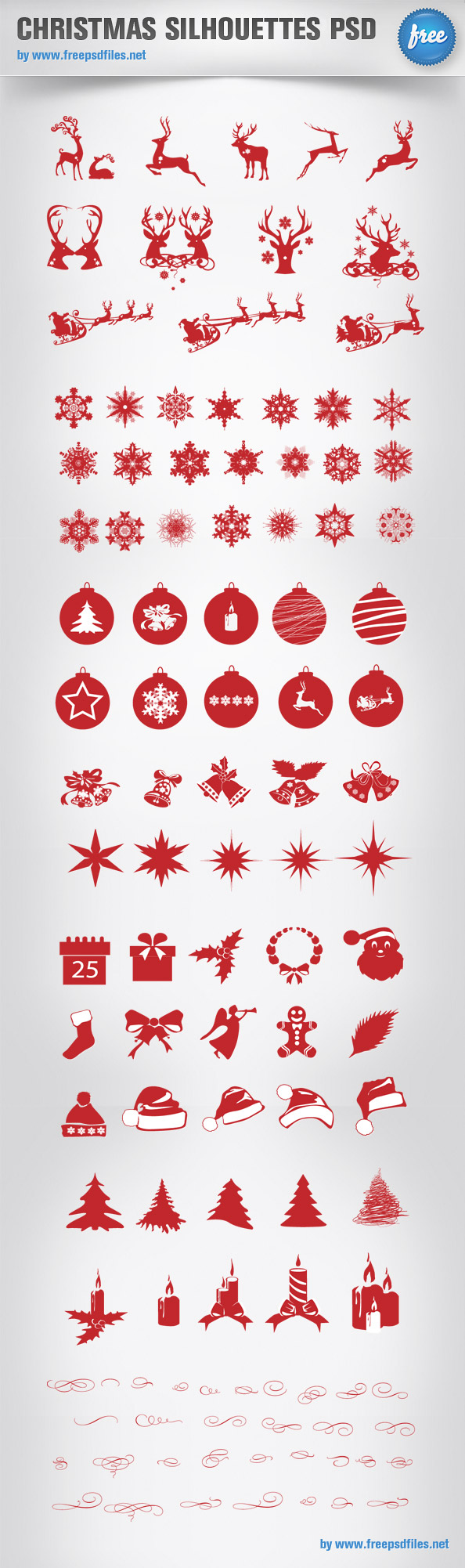siluetas navideñas