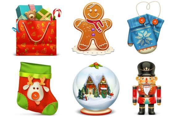 Iconos de Navidad 3d
