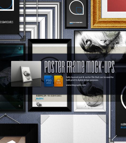 Mockups y marcos para p sters el arquitecto de ilusiones - Marcos para posters ...