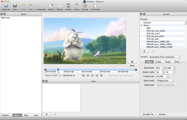 Shotcut para mac