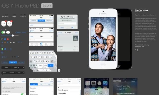 iOS 7 en psd