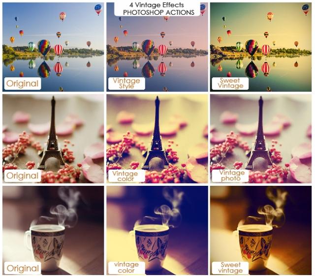Efectos Vintage para photoshop