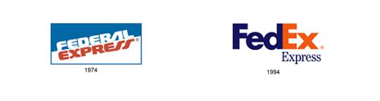 Historia de los logotipos Fedex