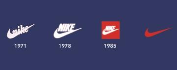 Historia de los logotipos Nike