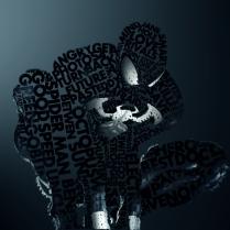 Superhéroes con Tipografías