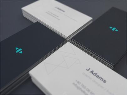 Tarjetas de visita minimalistas