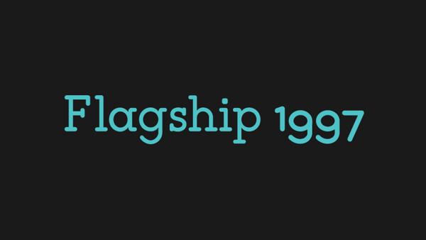 Tipografía Flagship 1997 gratis