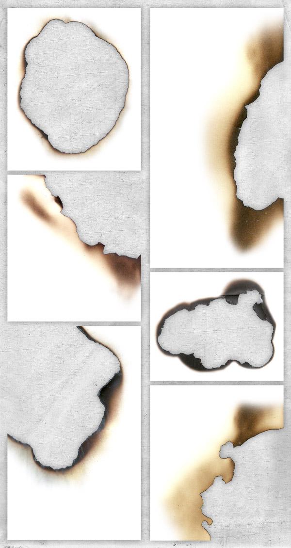 Textura de Papel quemado