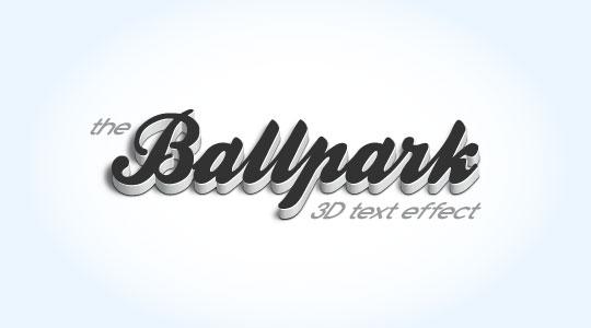 Efecto de texto 3D