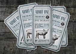 Invitaciones y entradas originales