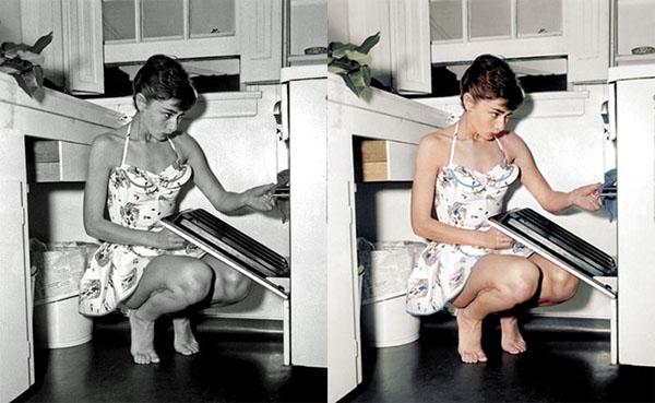 Fotos en blanco y negro coloreadas