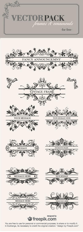 ornamentos vintage vectoriales