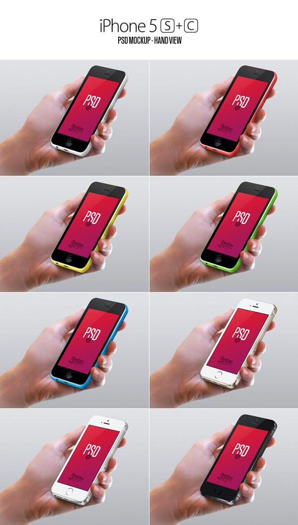 Mockup iPhones 5s y 5c