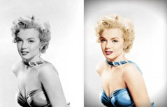 Fotos en blanco y negro coloreadas