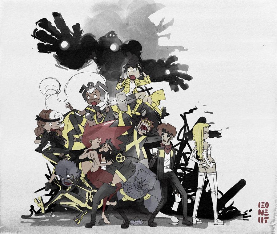 ilustraciones de X-men