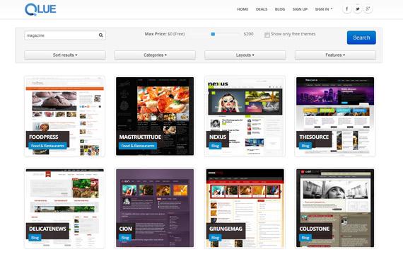Qlue buscador de temas wordpress