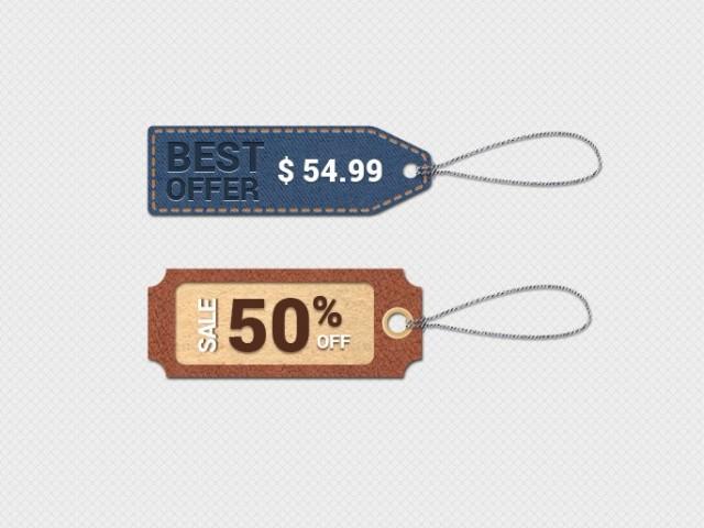 etiquetas para precios vintage