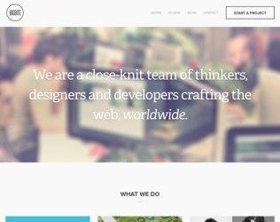 Ejemplos de diseño web con letras blancas