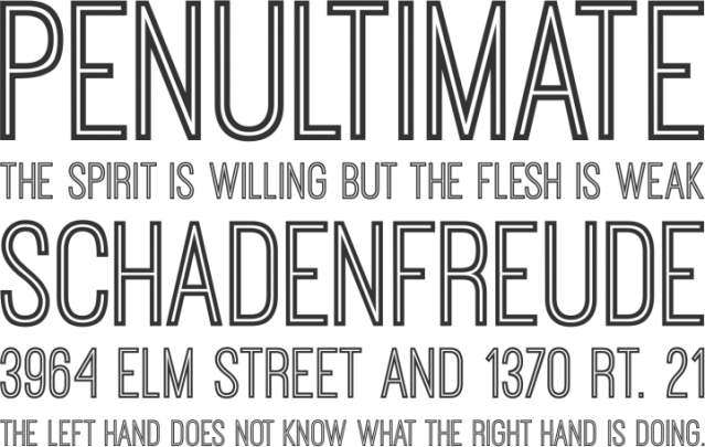 tipografías free inline