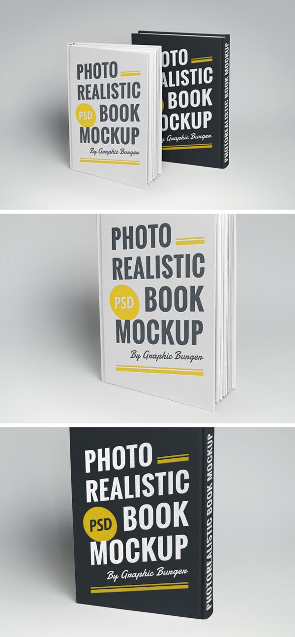 mockup libro fotorealista tapa dura