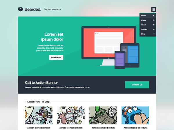 Plantilla psd para diseño web