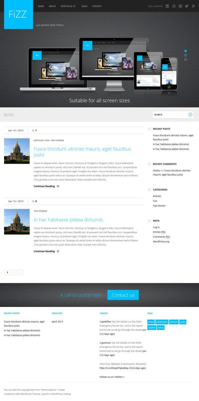 Tema gratis para WordPress