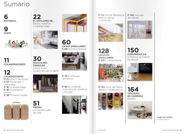 indice revista singulares magazine
