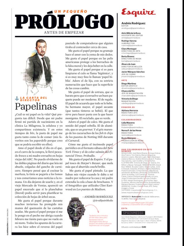 Editorial Andrés Rodríguez para Esquire
