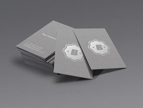 Mockup tarjeta de visita