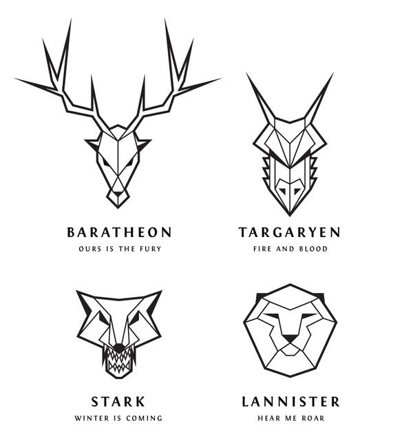 logos de juego de tronos