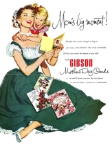 1952. Gibson cards. Mother's Day