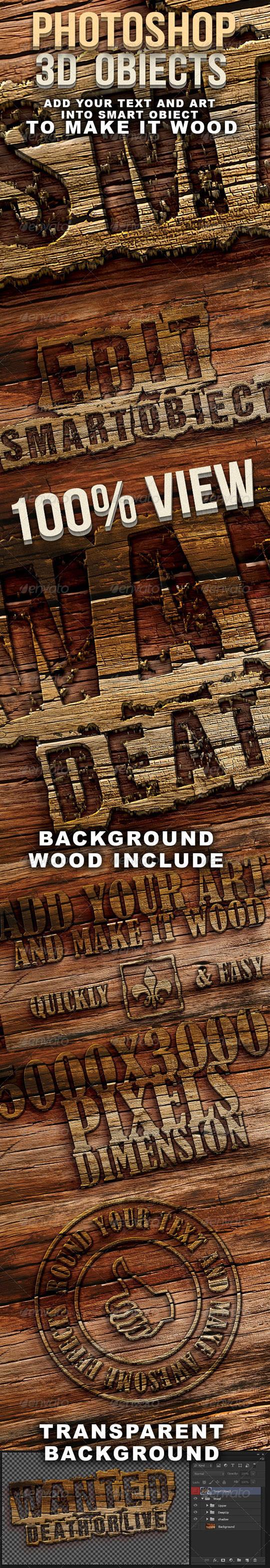 efecto de texto en madera