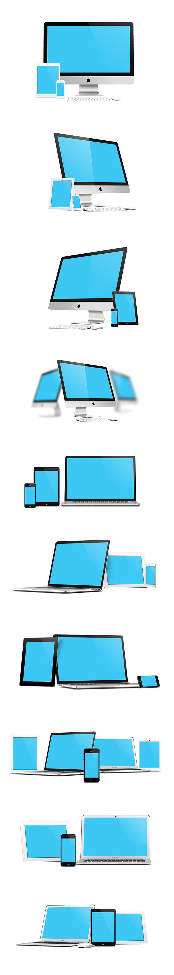 Mockup apple devices