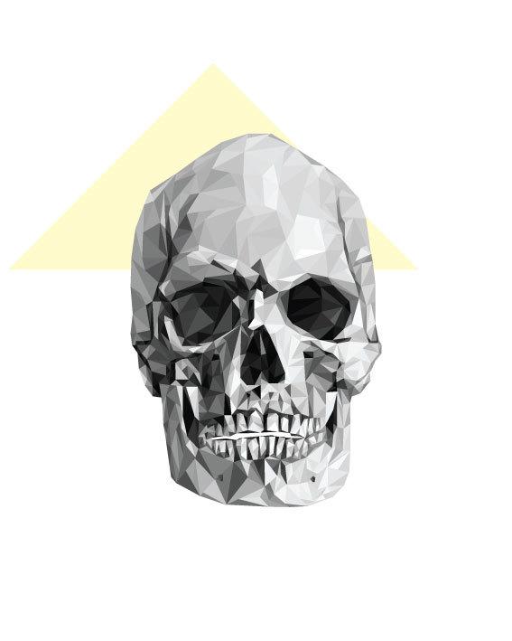 calavera triángulos