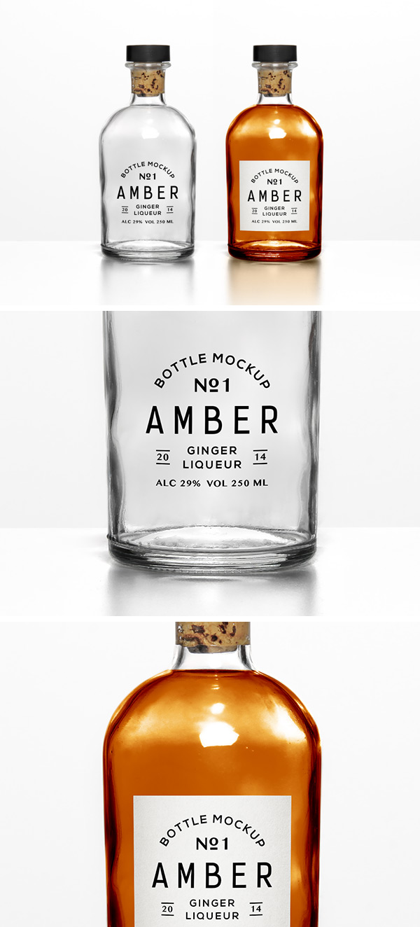 mockup botellas