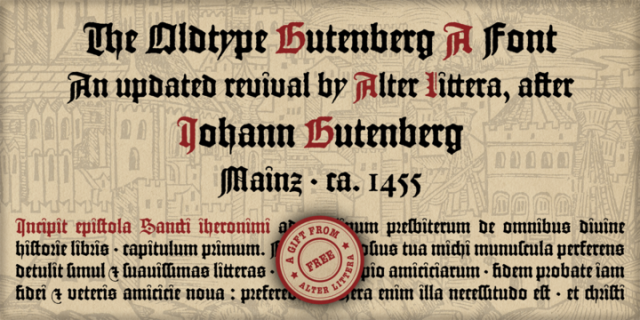 Tipografía de calidad gratis