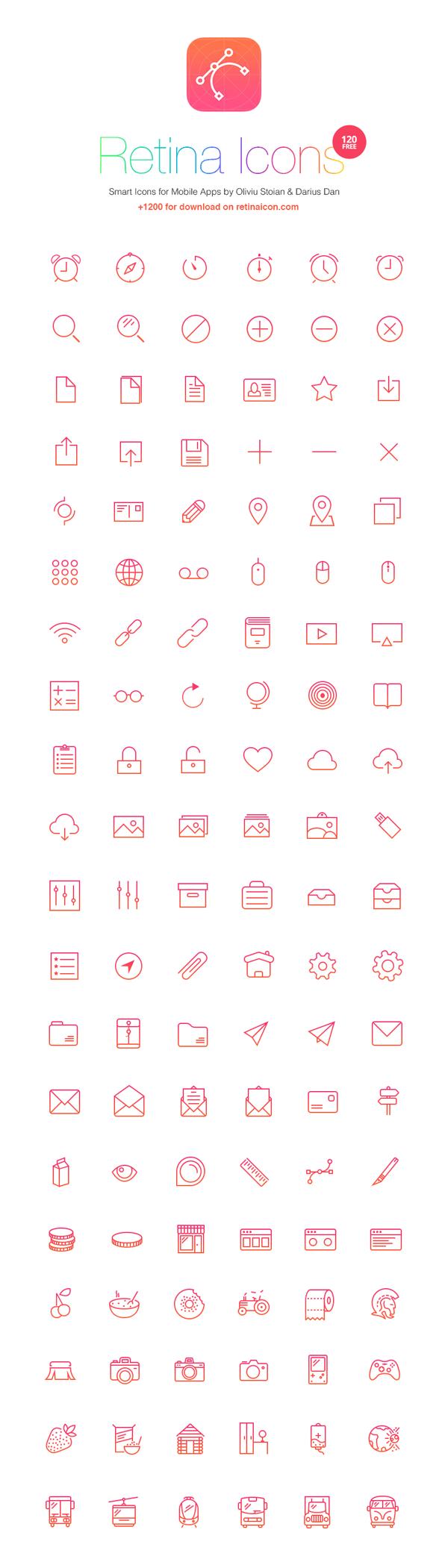Iconos retina gratis