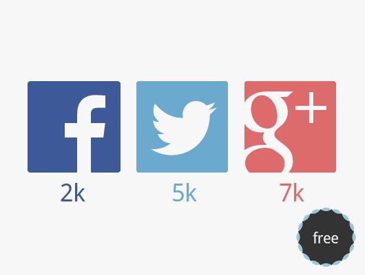 Iconos sociales flat