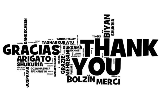 Gracias multilenguaje