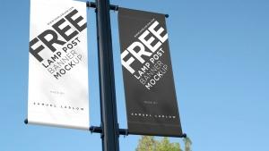 Mockup banderola de publicidad