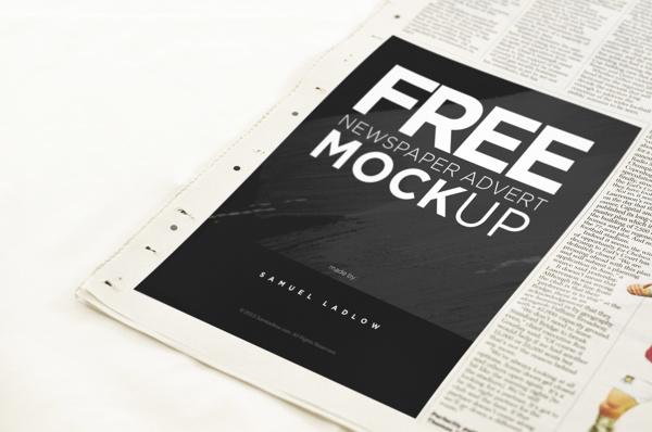 Mockup publicidad impresa