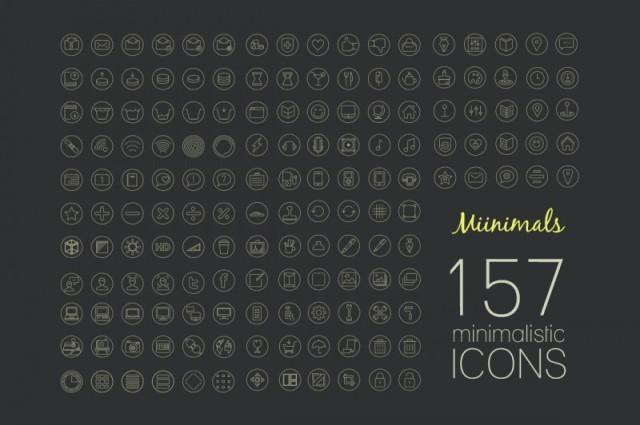 Iconos minimalistas gratis
