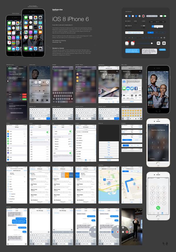 Interfaz de usuario de iOS 8