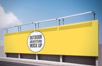 Mockup publicidad en exteriores
