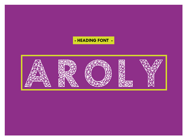 1.Free-Font-Of-Of-The-Day-Aroly