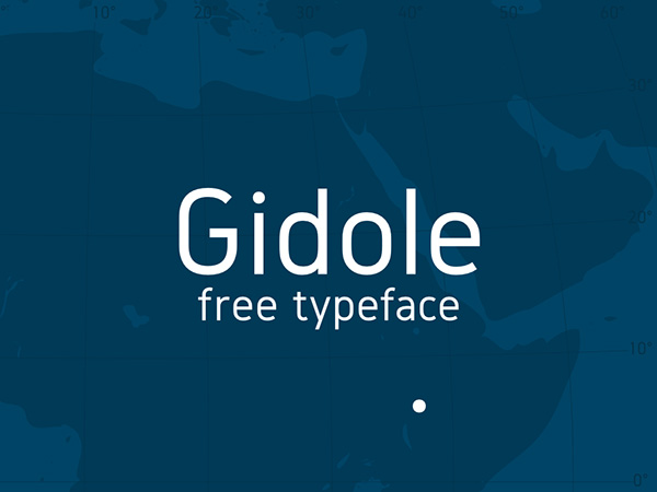1.Free-Font-Of-The-Day-Gidole