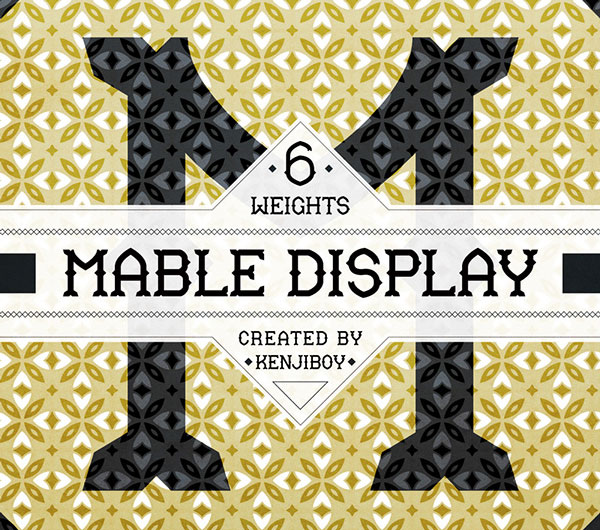 1.Free-Font-Of-The-Day-Mable-Display