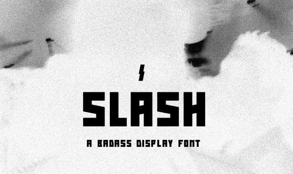1.Free-Font-Of-The-Day-Slash