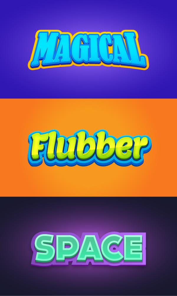 Efectos de texto Illustrator